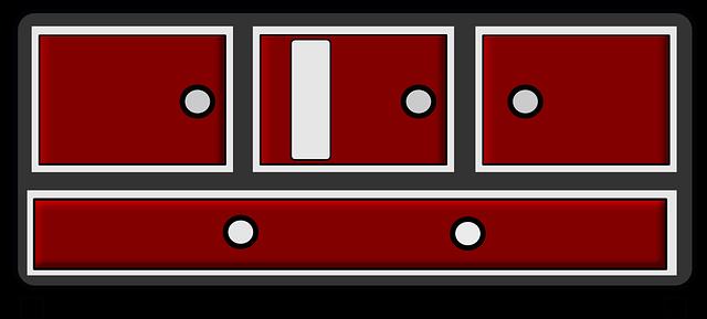 kreslená černočervená skříňka.png