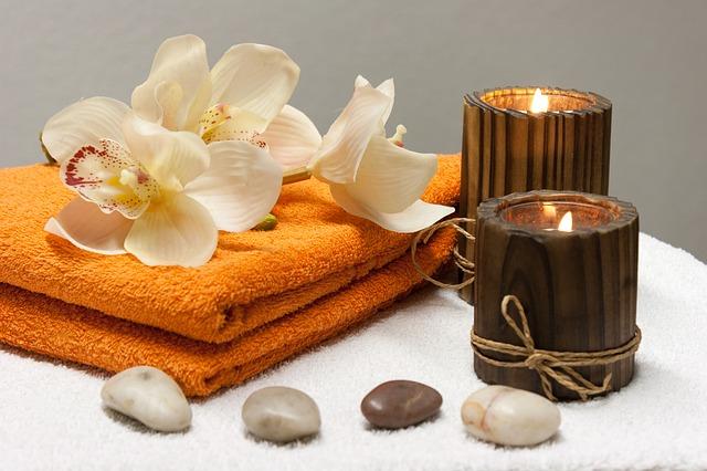 ručník a svíčky